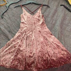 velvet flowy strap dress